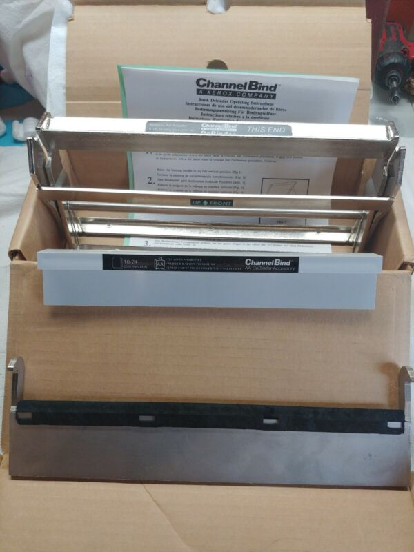 XEROX CHANNEL BIND SYSTEM BOOK DEBINDER MACHINE 10570 E9