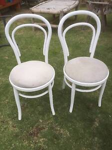 2 Old White Bentwood Dining Chairs Beckenham Gosnells Area Preview