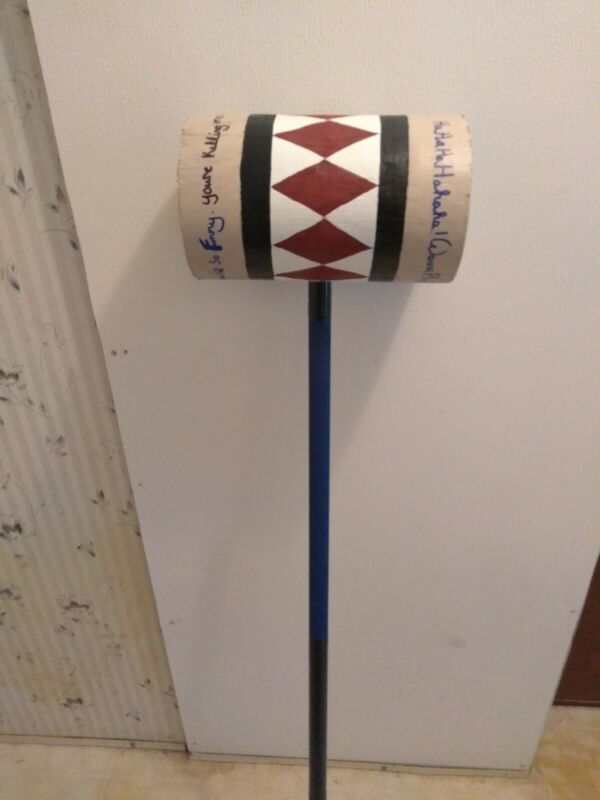 Harley Quinn Birds Of Prey mallet  handmade !!!! Solid Wood  bat not included