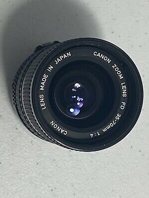 Canon Zoom 35-70mm 1:4 FD Lens  Made In Japan #0001 - Fast Shipping - H17