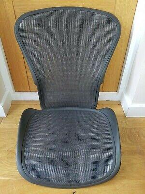 Herman Miller Aeron Chair Size B Tuxedo Grey Seat & Back Full Mesh Set