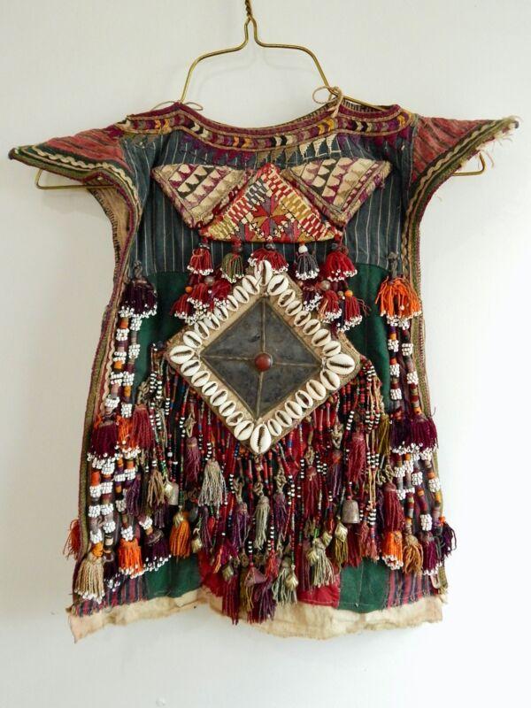 Nomadic Turkmen Childs Shirt Dress Ethnic Tribal Textile Cherjew Ceremonial