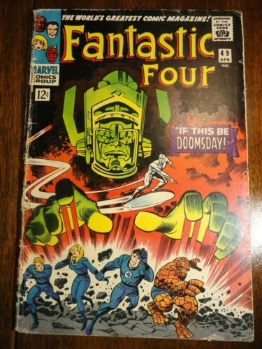 Fantastic Four #49 Hot Key 1st Galactus 2nd Silver Surfer Kirby Stan Lee Marvel