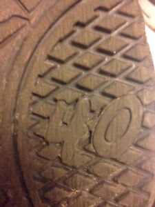 Tall Brown Leather Lace-Up Boots Size 40 (9.5) Peterborough Peterborough Area image 4