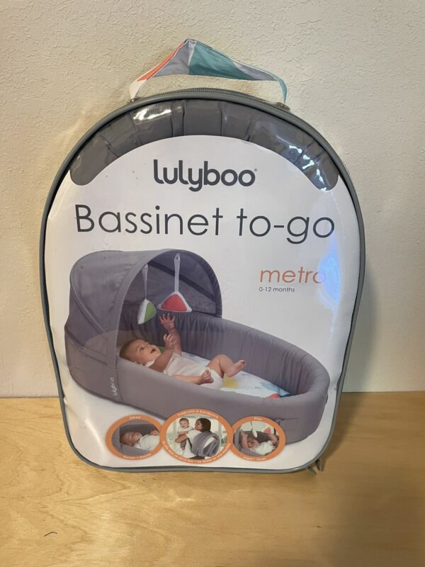 Lulyboo Indoor/Outdoor Cuddle and Play Lounge and Nest Bassinet To-Go