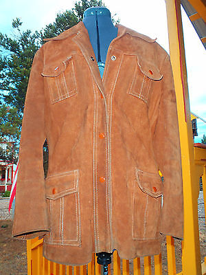 Womens True Vintage Jacket 100  Cowhide Split Leather Sz M Fingerhut Fashions