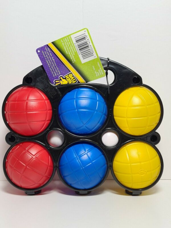 High Five Bocce Ball Set 8 Pieces with Rack NEW