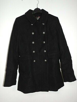 Superdry Womens Military Pea Coat Black Size S UK 10 rrp £114.99 DH192 ii 10