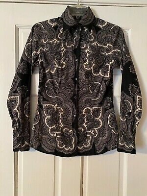 ETRO Blouse Size 42 Paisley Button Down Blouse Long Sleeve Made in Italy