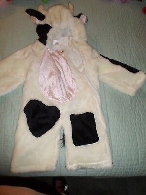 /Black & White Cow Costume Toddler Size Kids Fur Halloween EUC! - Cow Toddler Halloween Costume