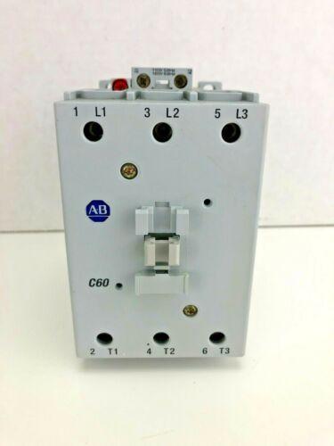 Nice! Allen-Bradley 100-C60D00 3 Pole Contactor 120VAC Coil 100-C60*00 Ser B