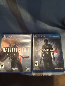 Battlefield 1 and Uncharted 4