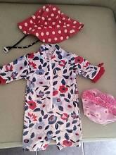 Baby Girl Designer Swimsuit / Rashie + Hat + Swim Diaper 3-6 m 00 Joondalup Joondalup Area Preview