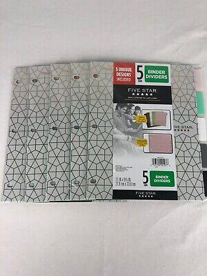 Five Star 5 Tab Binder Dividers 5 Packs