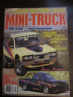 Mini Truck Magazine March 1984 Nissan Datsun Issue (AY) Mini Truck Magazine