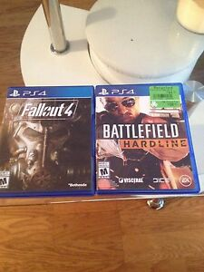 Fallout 4 and Battlefield Hardline PS4