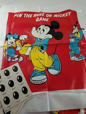 Micky Mouse Decorations (Disney 1987 Micky Mouse Birthday Party Supplies Banners Visors Party)