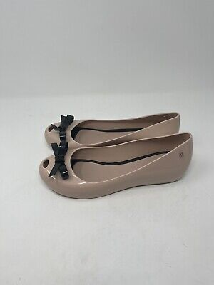 Melissa Jelly Flat With Bow Womens Size 10