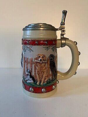 BUDWEISER - MAN'S BEST FRIEND SERIES - LIDDED STEIN - LABRADOR DOG