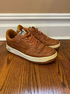 A Bathing Ape Bape Sta Low Tan Gold Shoes Size 9.5 FS-001