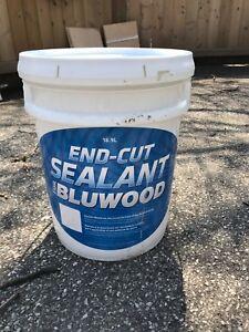 Wood end cut sealant renovation basement mold