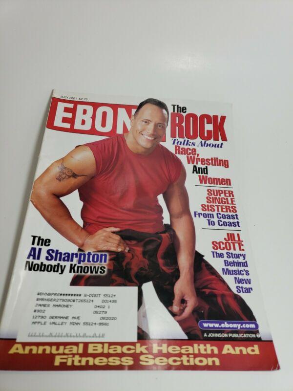 Vintage Ebony Magazine The Rock July 2001