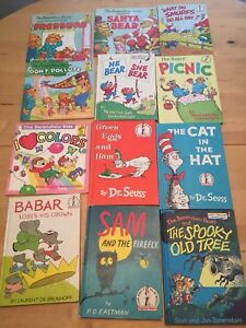 Old Dr Seuss, Berenstain Bears hard cover books and others