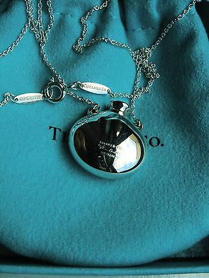 Tiffany & Co Peretti  Sterling Silver  Round Bottle Necklace Pendant 18""