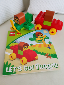 Duplo Lets Go Vroom Book With Vehicle Set Toys Indoor Gumtree