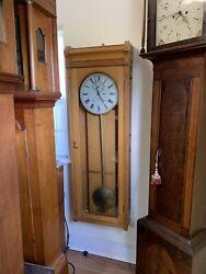 E. Howard Oak # 89 Station Clock Weight Driven Wall Regulator Standard Time