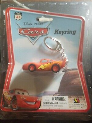Disney Pixar cars keyring 95 key chain Ages 3+ Lightning McQueen New Sealed!