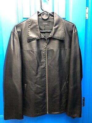 Mens MONDO DI MARCO soft leather jacket black MEDIUM