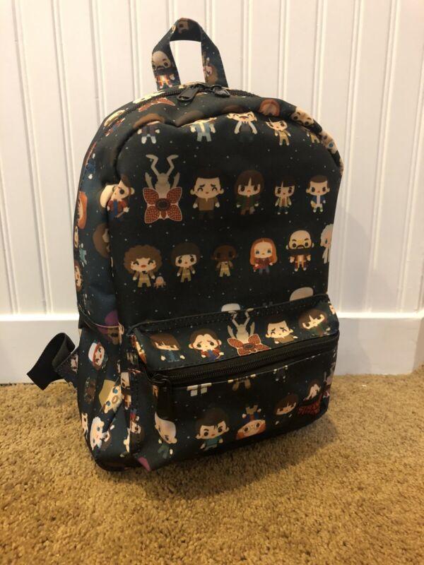 STRANGER THINGS Netflix mini chibi characters backpack *never used*