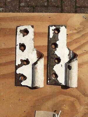 Vintage Rising Gate Door Hinges 2 female separate parts old (2) rare