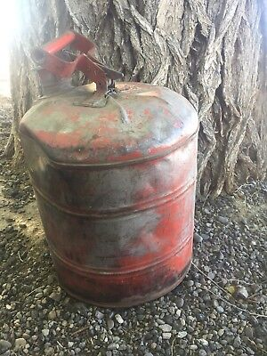 Justrite Safety Can Vintage 5 Gallon Metal Gas Can