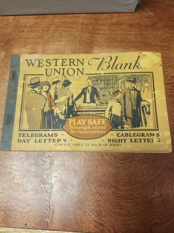 Vintage 1930s Western Union Telegram Blanks Book