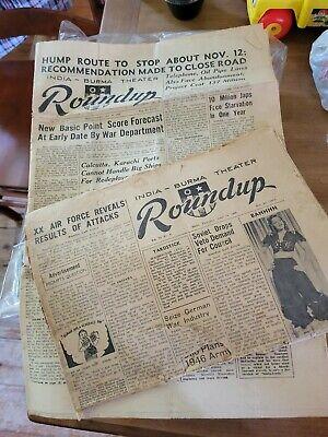 Roundup military newspaper 1945 WWII