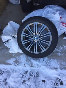 "BMW Winter tires (17"") and rubber floor mats"