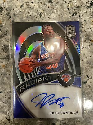2019-20 Panini Spectra 'Radiant' Julius Randle Auto Prizm #RS-JRD. /10. Sharp