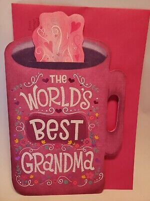 World's Best Grandma Bookmark Coffee Cup Mug Mother's Day Greeting