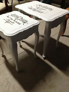 Set of 2 Antique custom finished tables  London Ontario image 1