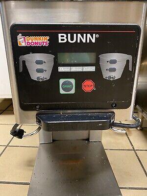 Bunn Mhg Commercial Dual Hopper Coffee Grinder Digital Dunkin Donuts Smartbrew