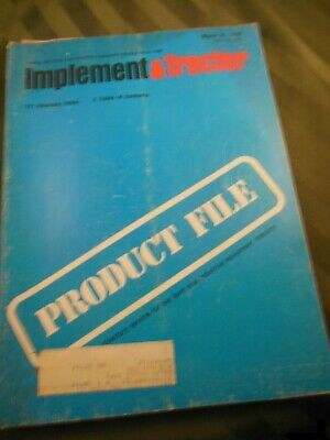 1979 Farm Tractor And Implement Product File Book