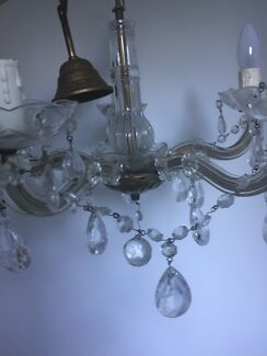 Set of 2 Vintage crystal chandeliers