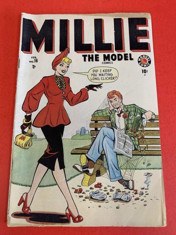 MILLIE THE MODEL # 16 (1949 ) MARVEL COMICS - Hedy DeVine GOLDEN AGE COMIC BOOK