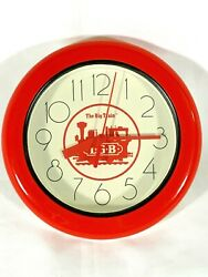 VINTAGE LGB THE BIG TRAIN RED WALL CLOCK EXCELLENT CONDITION VERY RARE!!