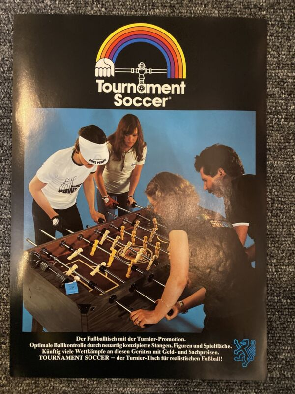 Foosball Collectable Tournament Soccer Rare German Advertisement 1978 Original