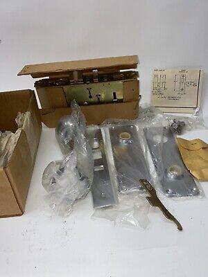 Vintage Sargent 7700-7705 Line Mortise Lock Set Aluminum Nib W Instructions Rh