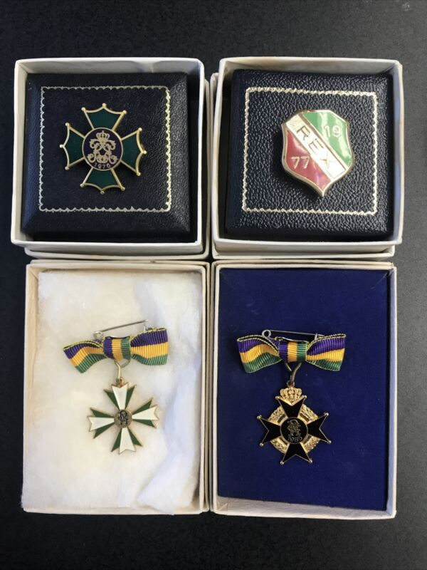 1976, 1977, 1985, 1986 KREWE OF REX LADIES PINS (PURCHASE ONE OR UP TO ALL FOUR)