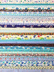 PATCHWORK-SCRAPS-BUNDLE-REMNANTS-CRAFT-FABRIC-BLUE-PACK-30-x-10CM-SQUARES